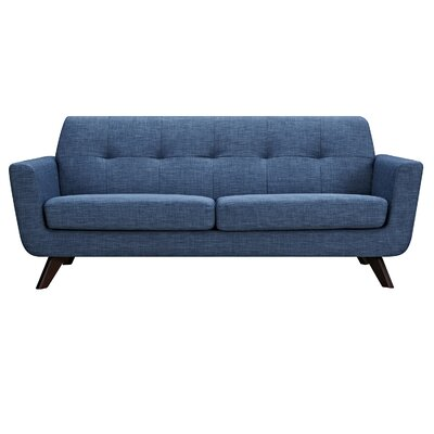 Dania Sofa Finish: Walnut, Upholstery: Stone Blue
