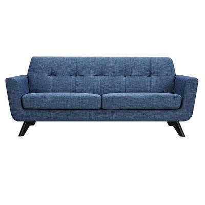 Dania Sofa Finish: Black, Upholstery: Stone Blue