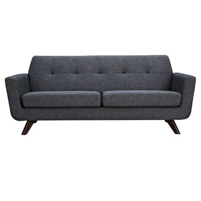 Dania Sofa Finish: Walnut, Upholstery: Charcoal Gray