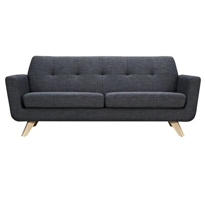 Dimond Sofa Upholstery: Charcoal Gray, Finish: Natural