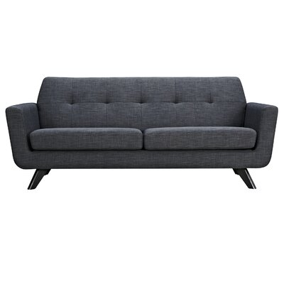 Dania Sofa Finish: Black, Upholstery: Charcoal Gray