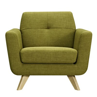 Dania Armchair Upholstery: Avocado Green, Finish: Natural