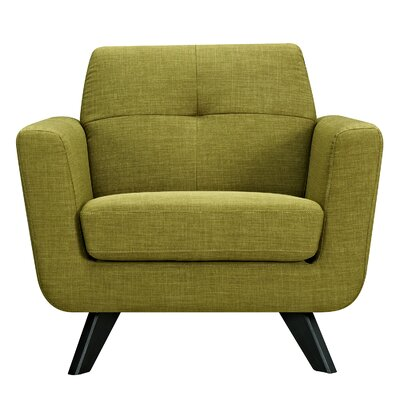 Dania Armchair Finish: Black, Upholstery: Avocado Green