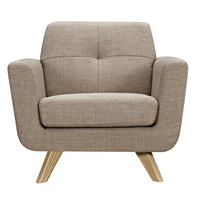 Dania Armchair Upholstery: Light Sand, Finish: Natural