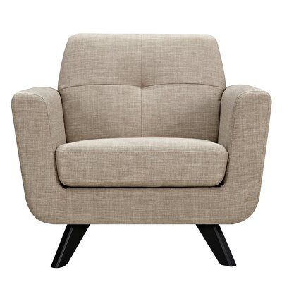 Dania Armchair Finish: Black, Upholstery: Light Sand