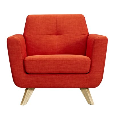 Dania Armchair Upholstery: Retro Orange, Finish: Natural