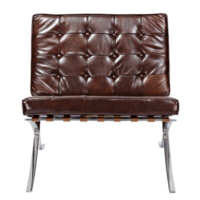 Barca Side Chair Upholstery: Aged Cognac