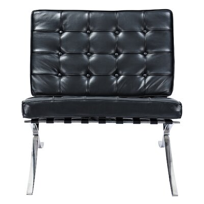 Mies Side Chair Upholstery: Milano Black