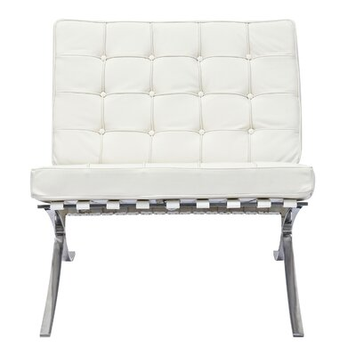 Barca Side Chair Upholstery: Milano White