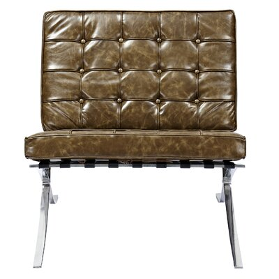 Mies Side Chair Upholstery: Palermo Olive