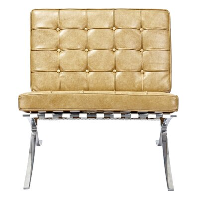Mies Side Chair Upholstery: Aged Maple
