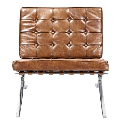Mies Side Chair Upholstery: Weathered Whiskey