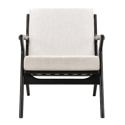 Zain Armchair Color: Oatmeal Gray, Finish: Black