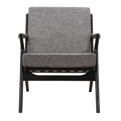 Zain Armchair Color: Cloud Gray, Finish: Black