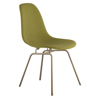 Classroom Side Chair Upholstery: Avocado Green, Finish: Brass