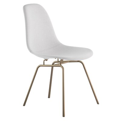 Classroom Side Chair Color: Glacier White, Finish: Brass