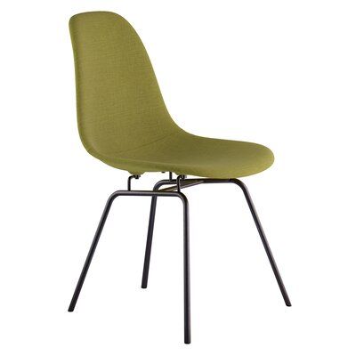 Classroom Side Chair Upholstery: Avocado Green, Finish: Gunmental