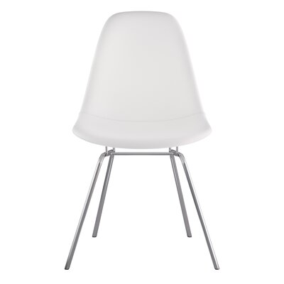 Classroom Side Chair Color: Milano White, Finish: Nickel