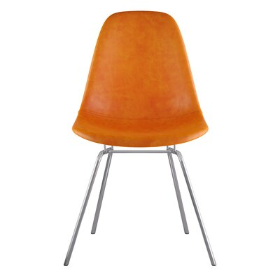 Classroom Side Chair Color: Burnt Orange, Finish: Nickel