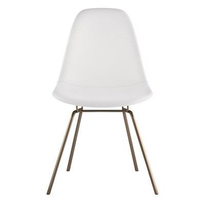 Classroom Side Chair Upholstery: Milano White, Finish: Brass