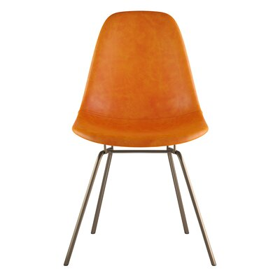 Classroom Side Chair Upholstery: Burnt Orange, Finish: Brass