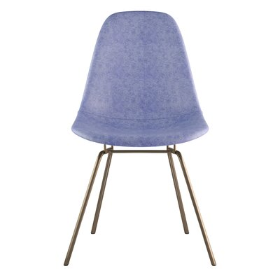 Classroom Side Chair Color: Weathered Blue, Finish: Brass