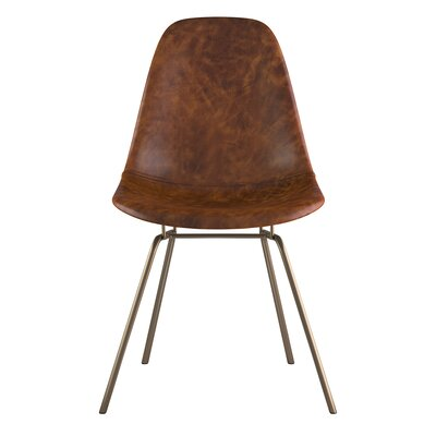 Classroom Side Chair Color: Weathered Whiskey, Finish: Brass