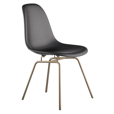 Classroom Side Chair Upholstery: Milano Black, Finish: Brass