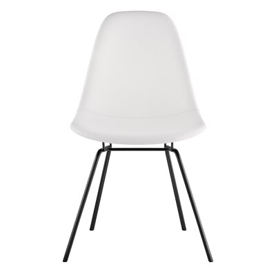 Classroom Side Chair Upholstery: Milano White, Finish: Gunmental