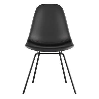Classroom Side Chair Color: Milano Black, Finish: Nickel