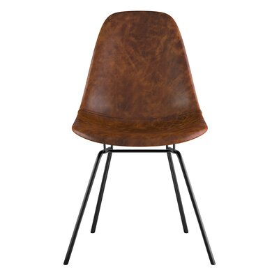 Classroom Side Chair Color: Weathered Whiskey, Finish: Gunmental