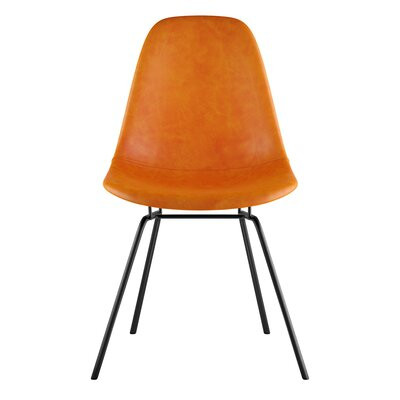 Classroom Side Chair Upholstery: Burnt Orange, Finish: Gunmental