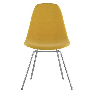Classroom Side Chair Upholstery: Papaya Yellow, Finish: Nickel