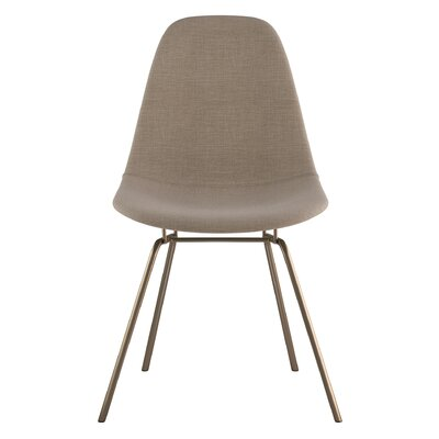 Classroom Side Chair Upholstery: Light Sand, Finish: Brass