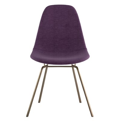 Classroom Side Chair Upholstery: Plum Purple, Finish: Brass