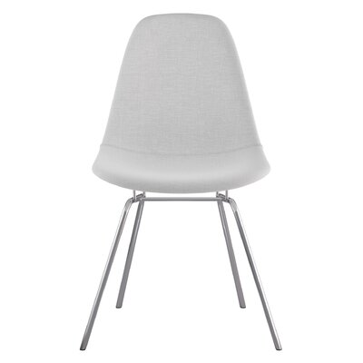 Classroom Side Chair Color: Glacier White, Finish: Nickel