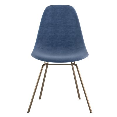 Classroom Side Chair Upholstery: Dodger Blue, Finish: Brass
