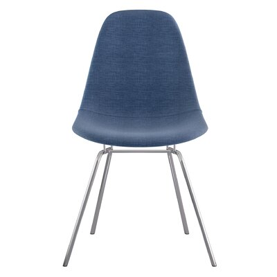 Classroom Side Chair Upholstery: Dodger Blue, Finish: Nickel