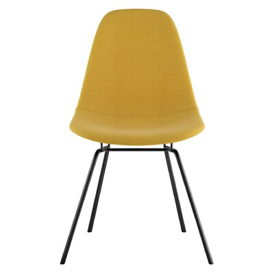 Classroom Side Chair Upholstery: Papaya Yellow, Finish: Gunmental