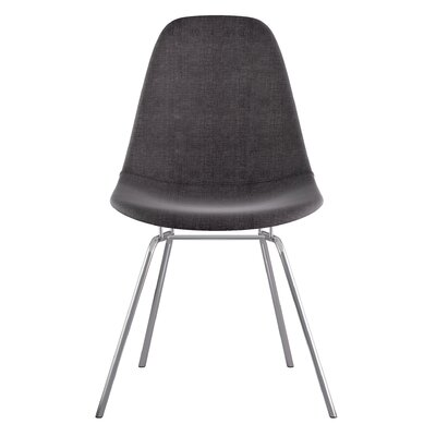 Classroom Side Chair Color: Charcoal Gray, Finish: Nickel
