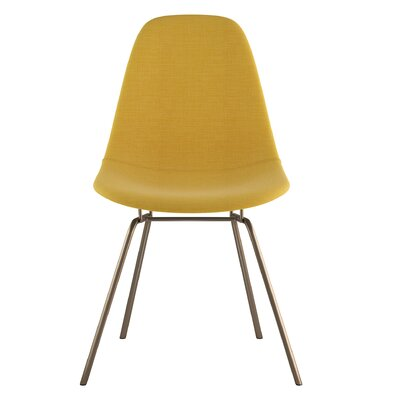 Classroom Side Chair Upholstery: Papaya Yellow, Finish: Brass