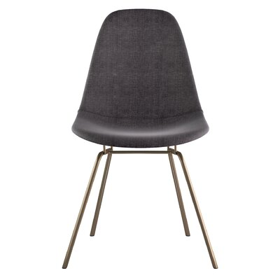 Classroom Side Chair Color: Charcoal Gray, Finish: Brass