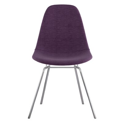 Classroom Side Chair Color: Plum Purple, Finish: Nickel