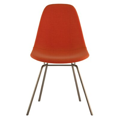 Classroom Side Chair Upholstery: Lava Red, Finish: Brass