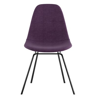 Classroom Side Chair Color: Plum Purple, Finish: Gunmental