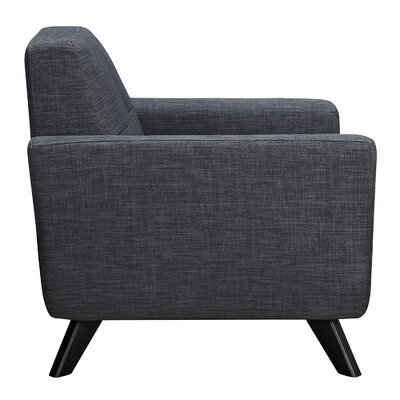 Dania Arm Chair Finish: Black, Upholstery: Charcoal