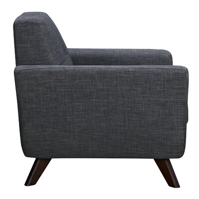 Dania Arm Chair Finish: Walnut, Upholstery: Charcoal