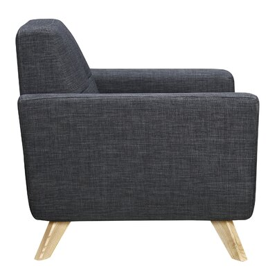 Dania Armchair Finish: Natural, Upholstery: Charcoal