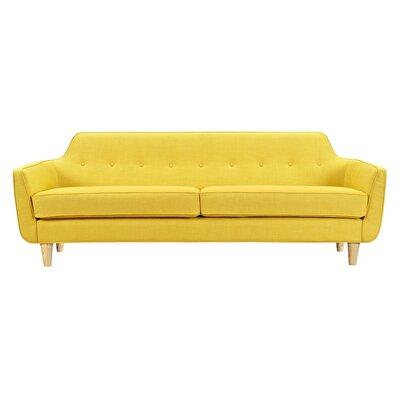 Agna Sofa Upholstery: Papaya Yellow, Finish: Natural