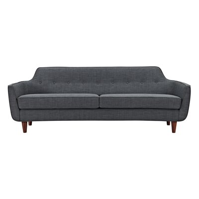 Agna Sofa Upholstery: Charcoal Gray, Finish: Walnut